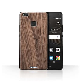 STUFF4 Case/Cover for Huawei P9 Lite / Walnut Design / Wood Grain Effect/Pattern Collection Mobile phones