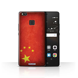 STUFF4 Case/Cover for Huawei P9 Lite / China/Chinese Design / Flags Collection Mobile phones