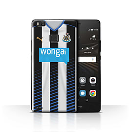 Newcastle United FC Case/Cover for Huawei P9 Lite/Footballer Design/NUFC Home Shirt/Kit 15/16 Mobile phones