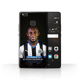 Official Newcastle United FC Case/Cover for Huawei P9 Lite/Doumbia Design/NUFC Football Player 15/16 Mobile phones