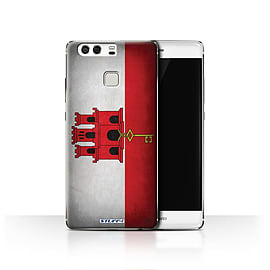 STUFF4 Case/Cover for Huawei P9 / Gibraltar/Gibraltarian Design / Flags Collection Mobile phones