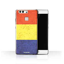 STUFF4 Case/Cover for Huawei P9 / Romania/Romanian Design / Flags Collection Mobile phones