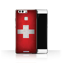 STUFF4 Case/Cover for Huawei P9 / Switzerland/Swiss Design / Flags Collection Mobile phones