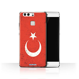 STUFF4 Case/Cover for Huawei P9 / Turkey/Turkish Design / Flags Collection Mobile phones