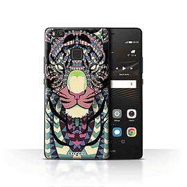 STUFF4 Case/Cover for Huawei P9 Lite / Tiger-Colour Design / Aztec Animal Design Collection Mobile phones