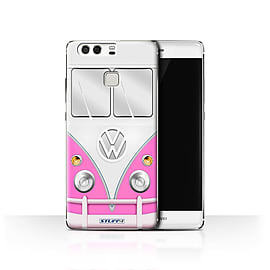STUFF4 Case/Cover for Huawei P9 / Pink Design / VW Camper Van Collection Mobile phones