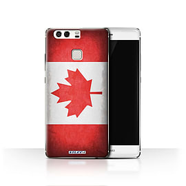 STUFF4 Case/Cover for Huawei P9 / Canada/Canadian Design / Flags Collection Mobile phones