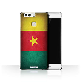 STUFF4 Case/Cover for Huawei P9 / Cameroon/Cameroonian Design / Flags Collection Mobile phones