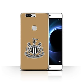 Official Newcastle United FC Case/Cover for Huawei Honor V8/Mono/Gold Design/NUFC Football Crest Mobile phones