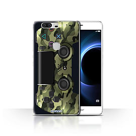 STUFF4 Case/Cover for Huawei Honor V8 / Green Camouflage Design / Playstation PS4 Collection Mobile phones