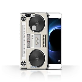 STUFF4 Case/Cover for Huawei Honor V8 / Boombox Design / Retro Tech Collection Mobile phones
