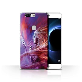 Official Chris Cold Case/Cover for Huawei Honor V8/Space Girl Design/Alien World Cosmos Mobile phones