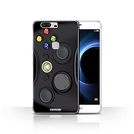 STUFF4 Case/Cover for Huawei Honor V8 / Black Xbox 360 Design / Games Console Collection Mobile phones