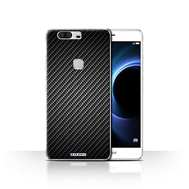 STUFF4 Case/Cover for Huawei Honor V8 / Grey Design / Carbon Fibre Effect/Pattern Collection Mobile phones