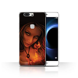 Official Elena Dudina Case/Cover for Huawei Honor V8 / Flaming Heart Design / Love Art Collection Mobile phones