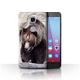STUFF4 Case/Cover for Huawei Honor 5X/GR5 / Bear Design / Wildlife Animals Collection Mobile phones