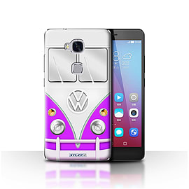 STUFF4 Case/Cover for Huawei Honor 5X/GR5 / Purple Design / VW Camper Van Collection Mobile phones
