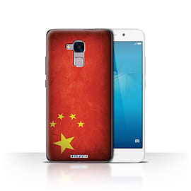 STUFF4 Case/Cover for Huawei Honor 5c / China/Chinese Design / Flags Collection Mobile phones