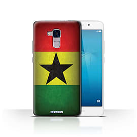 STUFF4 Case/Cover for Huawei Honor 5c / Ghana/Ghanaian Design / Flags Collection Mobile phones