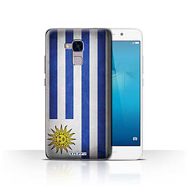STUFF4 Case/Cover for Huawei Honor 5c / Uruguay/Uruguayan Design / Flags Collection Mobile phones