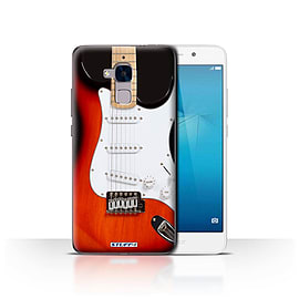 STUFF4 Case/Cover for Huawei Honor 5c / Red Electric Design / Guitar Collection Mobile phones
