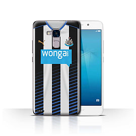 Newcastle United FC Case/Cover for Huawei Honor 5c/Footballer Design/NUFC Home Shirt/Kit 15/16 Mobile phones