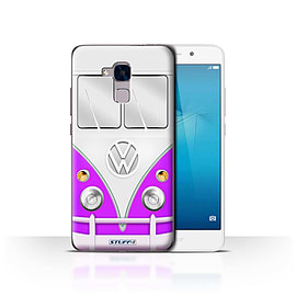 STUFF4 Case/Cover for Huawei Honor 5c / Purple Design / VW Camper Van Collection Mobile phones