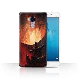Official Chris Cold Case/Cover for Huawei Honor 5c/Melting Sun Design/Alien World Cosmos Mobile phones