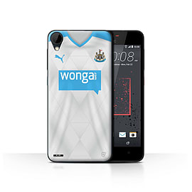 Newcastle United FC Case/Cover for HTC Desire 825/Footballer Design/NUFC Away Shirt/Kit 15/16 Mobile phones