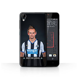 Official Newcastle United FC Case/Cover for HTC Desire 825/De Jong Design/NUFC Football Player 15/16 Mobile phones