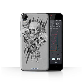 STUFF4 Case/Cover for HTC Desire 825 / Three Design / Skull Art Sketch Collection Mobile phones