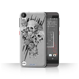 STUFF4 Case/Cover for HTC Desire 630 / Three Design / Skull Art Sketch Collection Mobile phones
