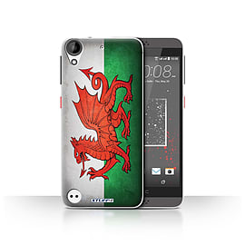 STUFF4 Case/Cover for HTC Desire 630 / Wales/Welsh Design / Flags Collection Mobile phones