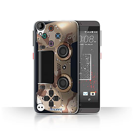 STUFF4 Case/Cover for HTC Desire 530 / Desert Camouflage Design / Playstation PS4 Collection Mobile phones