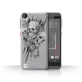 STUFF4 Case/Cover for HTC Desire 530 / Three Design / Skull Art Sketch Collection Mobile phones