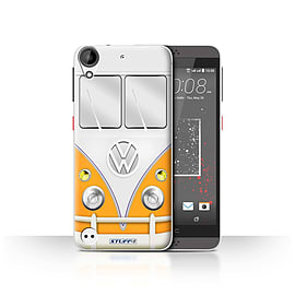 STUFF4 Case/Cover for HTC Desire 530 / Orange Design / VW Camper Van Collection Mobile phones