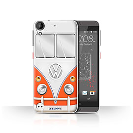 STUFF4 Case/Cover for HTC Desire 530 / Red Design / VW Camper Van Collection Mobile phones