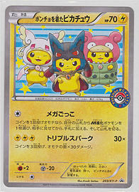 Japanese Holo Poncho Wearing Pikachu Promo 203/XY-P Pokemon Card Trading Cards