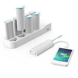 Juku Charge Station - White - includes 8 Battery Packs Mobile phones