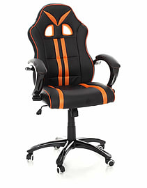 TANK Gaming Chair with Tilt Function in Orange Stripe Multi Format and Universal