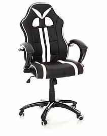 TANK Gaming Chair with Tilt Function in White Stripe Multi Format and Universal