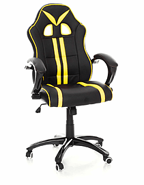 TANK Gaming Chair with Tilt Function in Yellow Stripe Multi Format and Universal