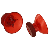 ZedLabz concave analog thumbsticks for Xbox One controller replacement stick - 2 pack clear red screen shot 1