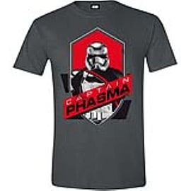 STAR WARS VII Men's The Force Awakens Captain Phasma Shield T-Shirt, Extra Large Clothing