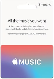 Apple Music Card - 3 Months Top ups