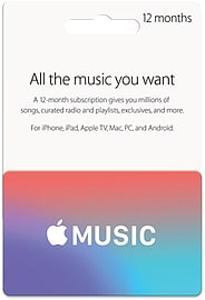 Apple Music Card - 12 Months Top ups