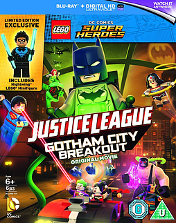Lego Dc Justice League:Gotham City Breakout (Nightwing Minifigure) (Blu Ray) DVD
