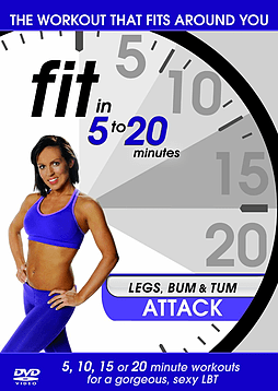 Fit In 5 To 20 Minutes: Legs, Bum And Tum Attack (DVD) DVD