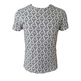 Assassins Creed Merchandise ASSASSIN'S CREED Adult Male Abstergo Logo All-Over Print T-Shirt, Large Clothing