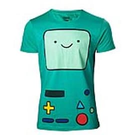 ADVENTURE TIME Beemo Games Console T-Shirt, Small, Turquoise (TS133002ADV-S) Clothing